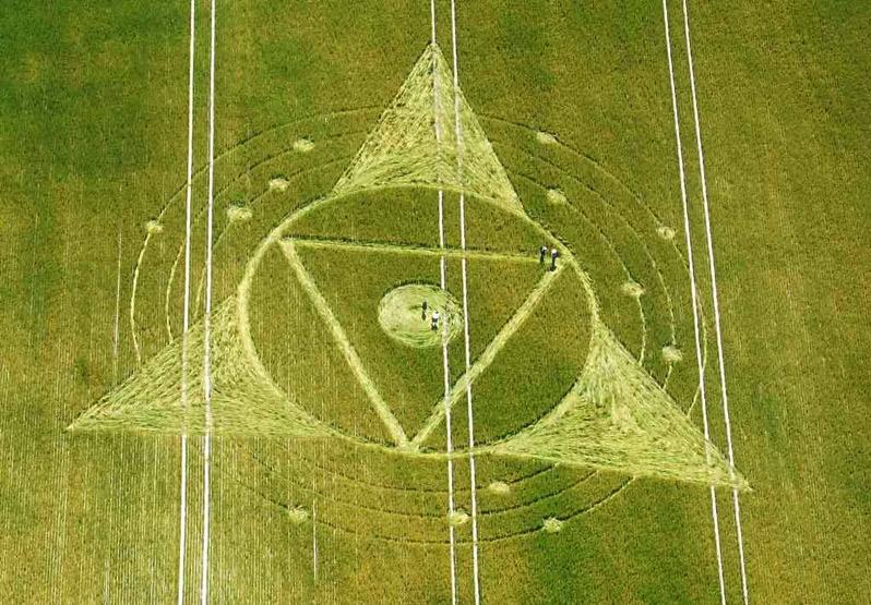 Crop Circle at Ridgeway, Wiltshire UK, 24 July 2013